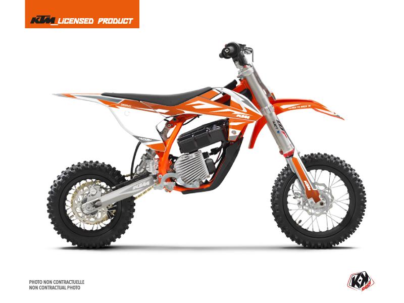 Kit Déco Moto Cross Trophy KTM SX-E 5 Orange Blanc