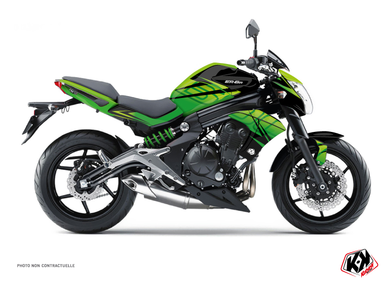 Kawasaki ER 6N Street Bike Ultimate Graphic Kit Black Green