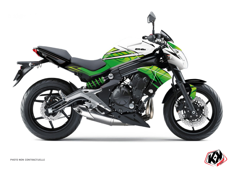 Kawasaki ER 6N Street Bike Ultimate Graphic Kit Green White