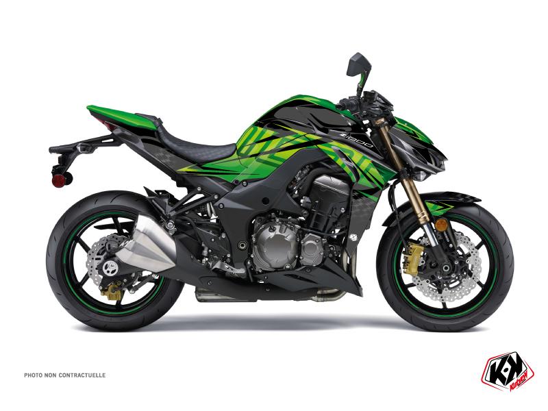 Kawasaki Z 1000 Street Bike Ultimate Graphic Kit Black Green