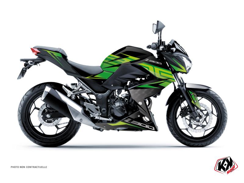 Kawasaki Z 300 Street Bike Ultimate Graphic Kit Black Green