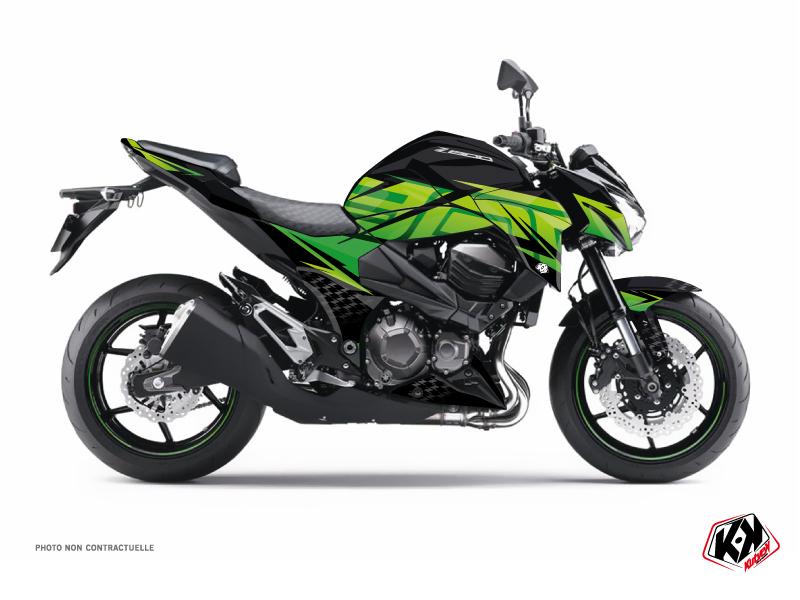 Kawasaki Z 800 Street Bike Ultimate Graphic Kit Black Green
