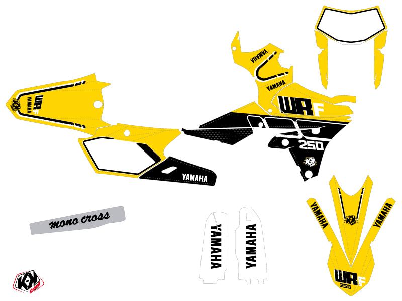 Yamaha 250 WRF Dirt Bike Vintage Graphic Kit Yellow