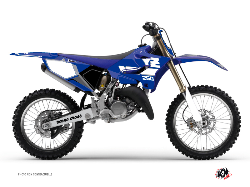 Yamaha 250 YZ Dirt Bike Vintage Graphic Kit Blue