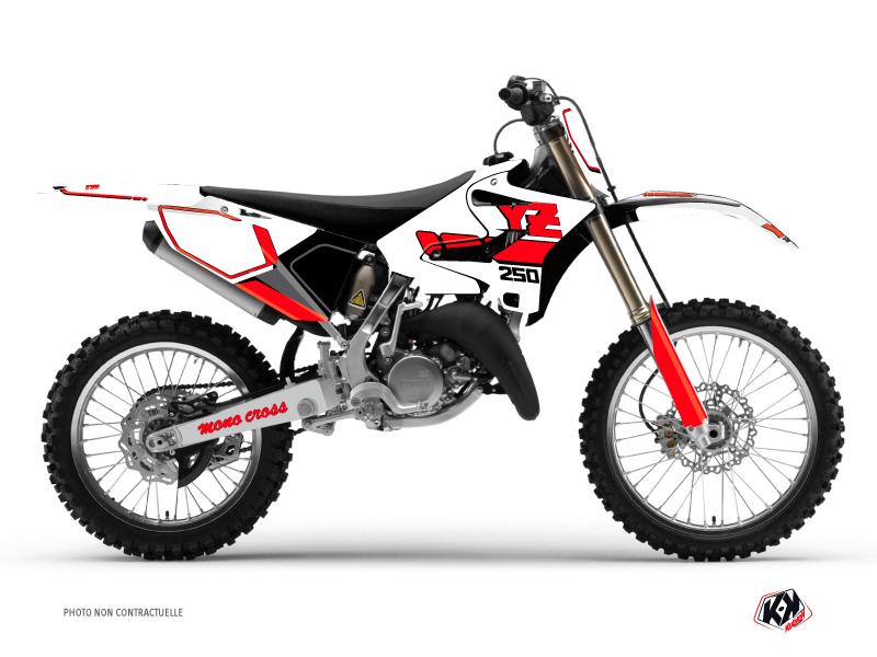 Kit Déco Moto Cross Vintage Yamaha 250 YZ Rouge