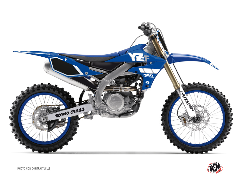 Yamaha 250 YZF Dirt Bike Vintage Graphic Kit Blue