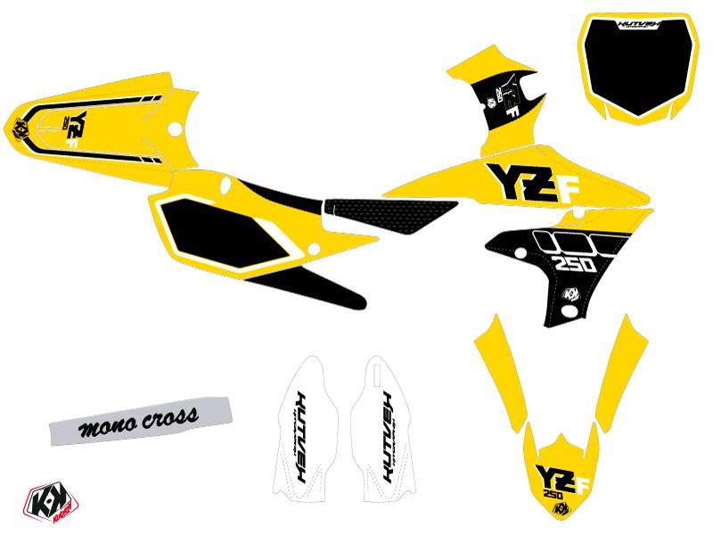Kit Déco Moto Cross Vintage Yamaha 250 YZF Jaune