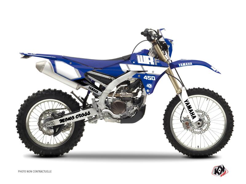 Kit Déco Moto Cross Vintage Yamaha 450 WRF Bleu