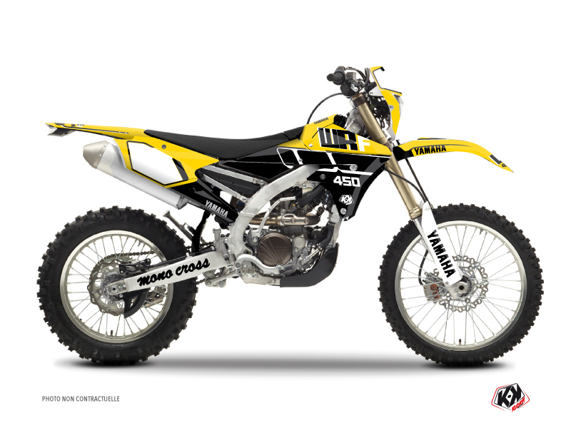 Yamaha 450 WRF Dirt Bike Vintage Graphic Kit Yellow