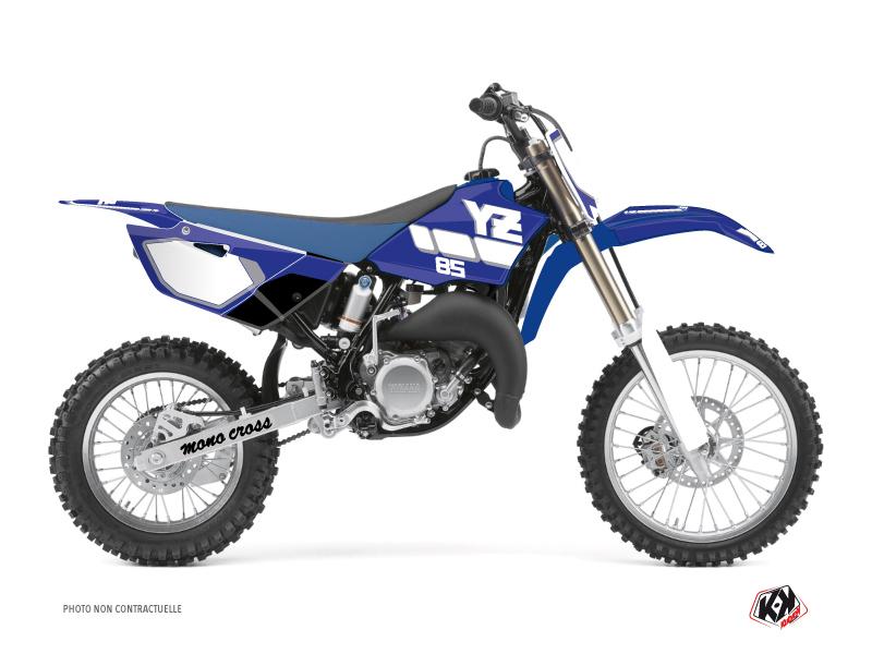 Kit Déco Moto Cross Vintage Yamaha 85 YZ Bleu