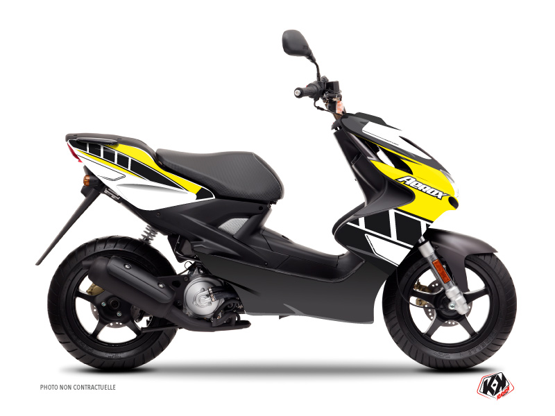 Yamaha Aerox Scooter Vintage Graphic Kit Yellow