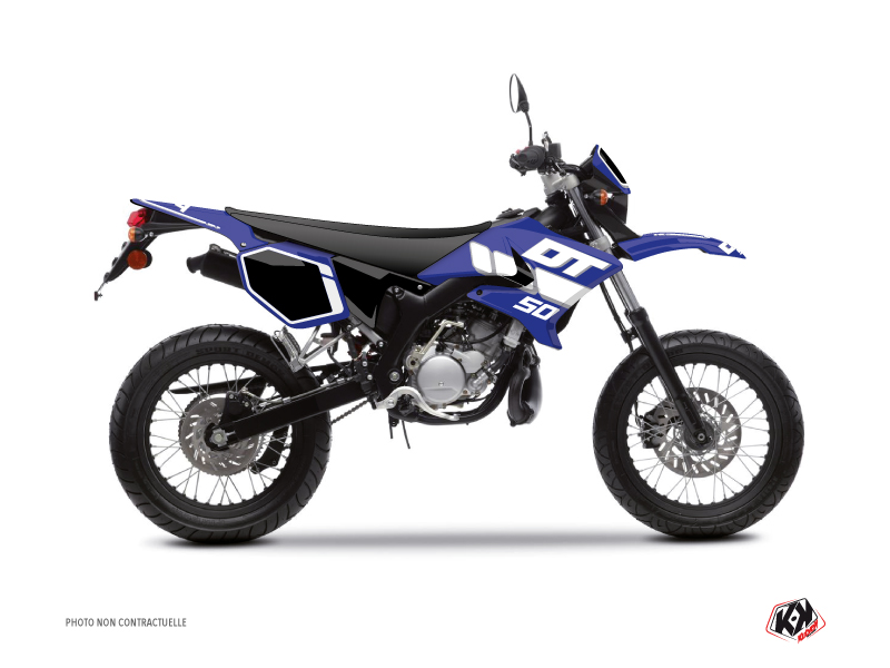 Kit Déco 50cc Vintage Yamaha DT 50 Bleu