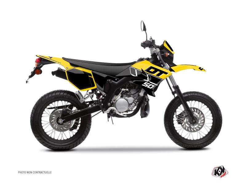 Kit Déco 50cc Vintage Yamaha DT 50 Jaune