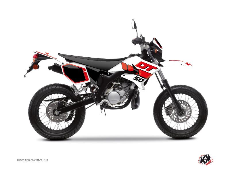 Kit Déco 50cc Vintage Yamaha DT 50 Rouge