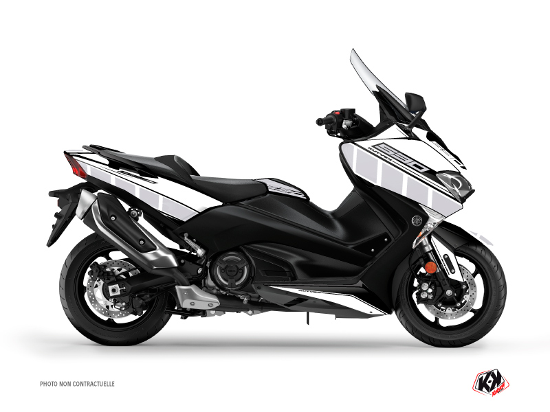 Kit Déco Maxiscooter Vintage Yamaha TMAX 530 Blanc
