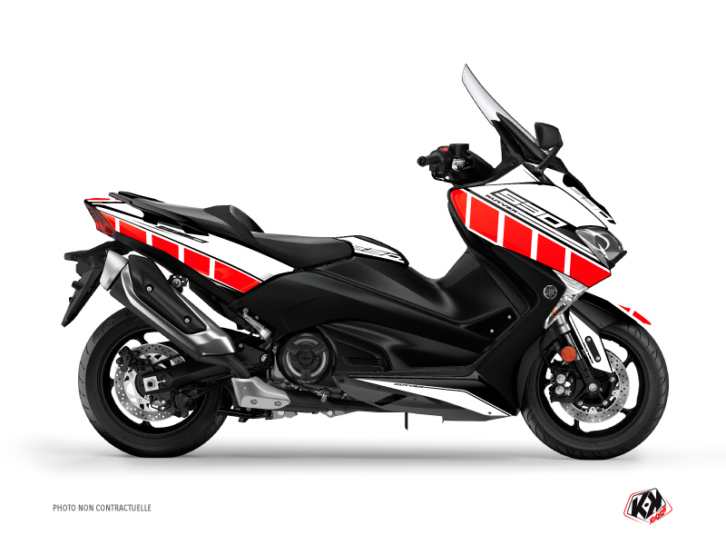 Kit Déco Maxiscooter Vintage Yamaha TMAX 530 Rouge