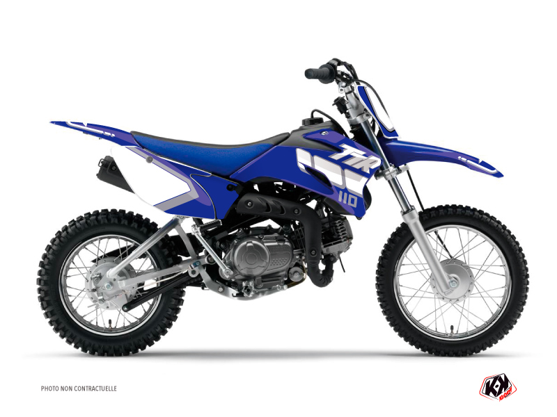 Yamaha TTR 110 Dirt Bike Vintage Graphic Kit Blue