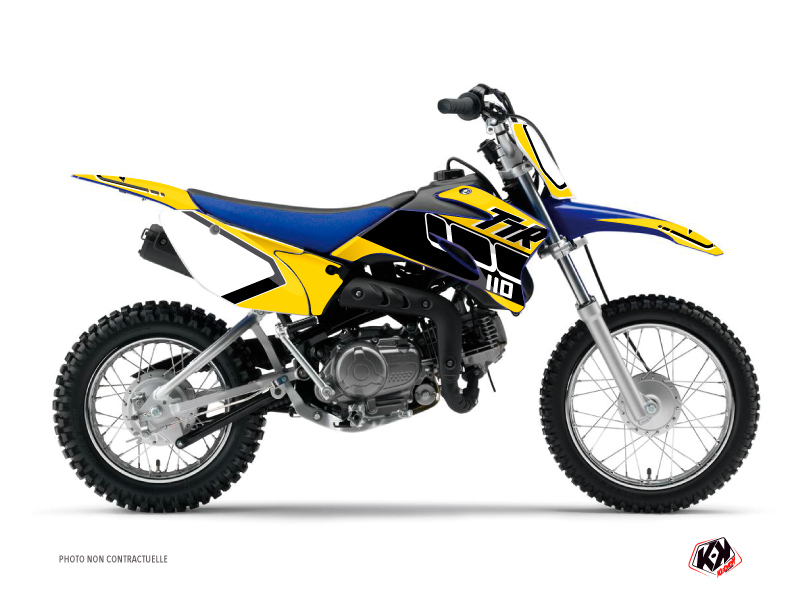 Yamaha TTR 110 Dirt Bike Vintage Graphic Kit Yellow