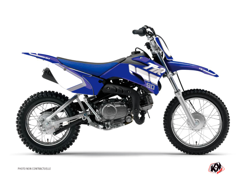Kit Déco Moto Cross Vintage Yamaha TTR 90 Bleu