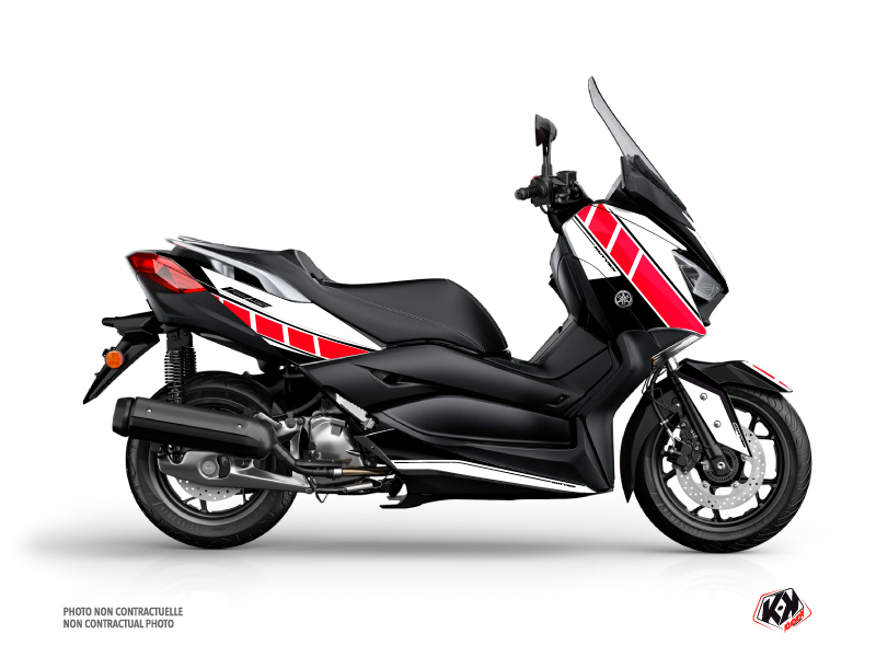 Yamaha XMAX 125 Maxiscooter Vintage Graphic Kit Red