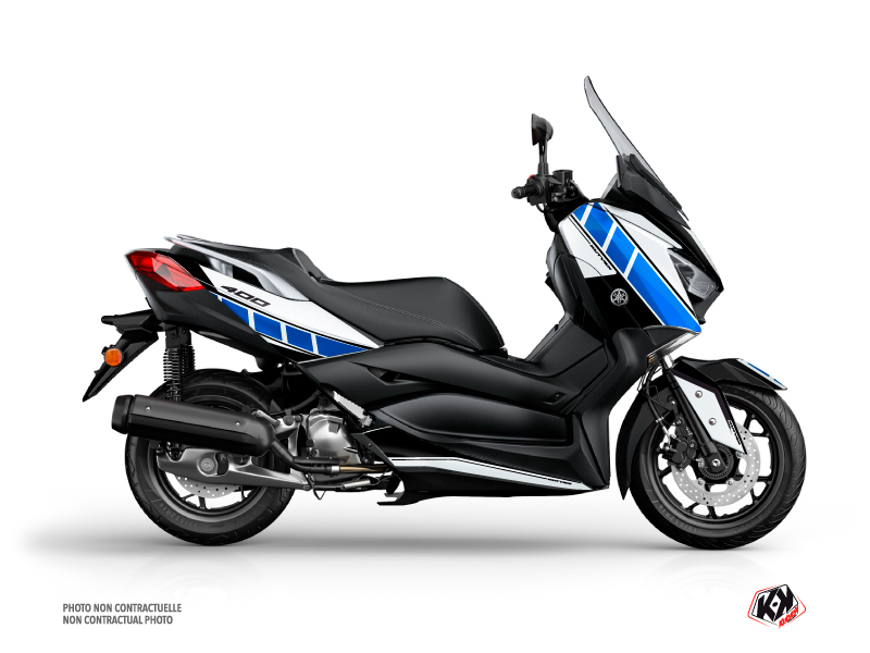Yamaha XMAX 400 Maxiscooter Vintage Graphic Grey Blue