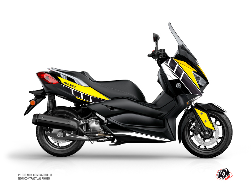 Yamaha XMAX 400 Maxiscooter Vintage Graphic Kit Yellow