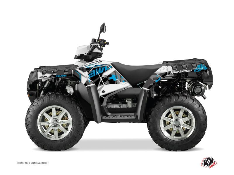 Polaris 1000 Sportsman Forest ATV Visor Graphic Kit Blue