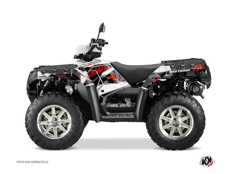 Polaris 550-850-1000 Sportsman Touring ATV Visor Graphic Kit Red
