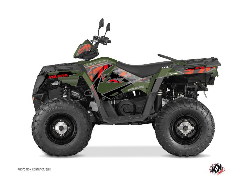 Polaris 570 Sportsman Touring ATV Visor Graphic Kit Green