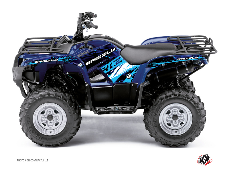 Yamaha 350 Grizzly ATV Wild Graphic Kit Blue
