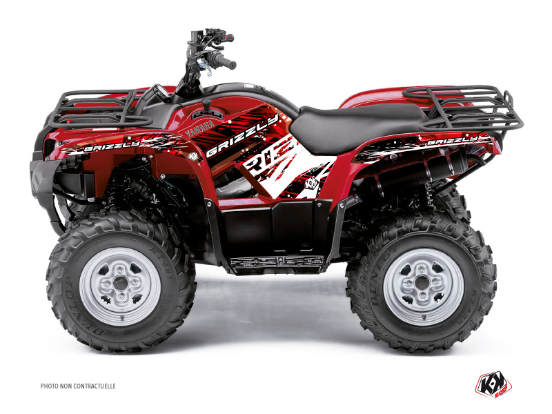 Yamaha 450 Grizzly ATV Wild Graphic Kit Red
