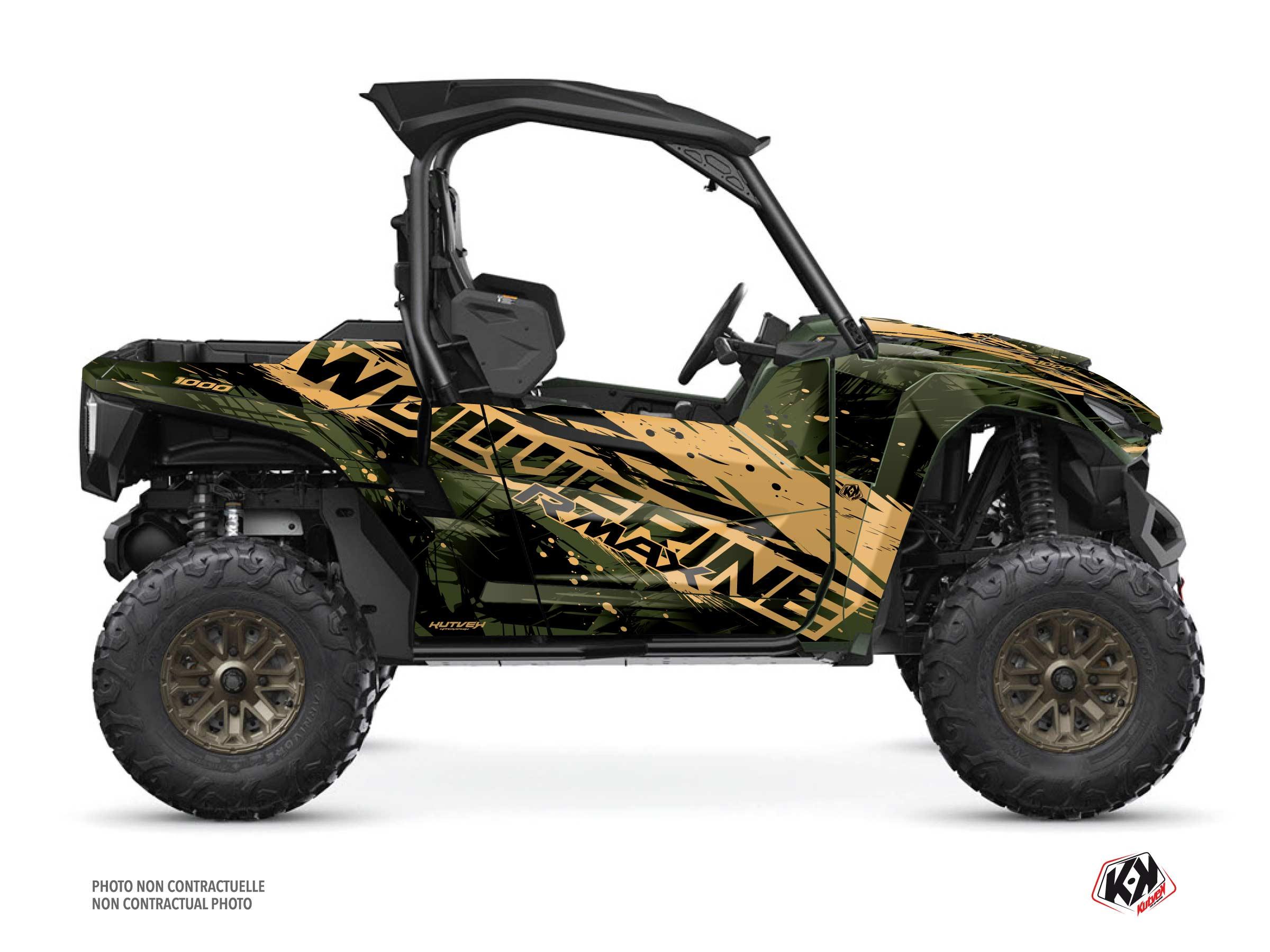 Yamaha Wolverine RMAX UTV Wild Graphic Kit Kaki