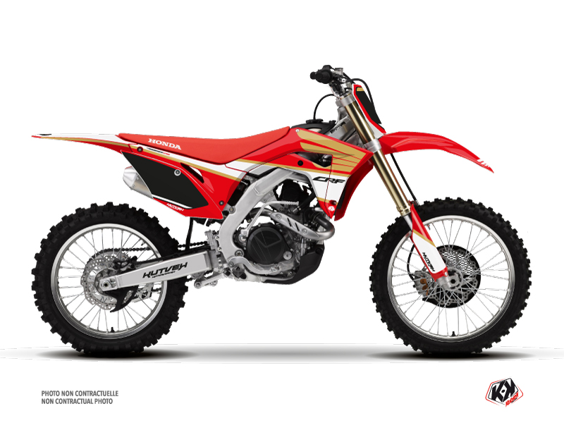 Honda 250 CRF Dirt Bike Wing Graphic Kit White