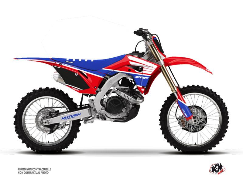 Honda 250 CRF Dirt Bike Wing Graphic Kit Blue