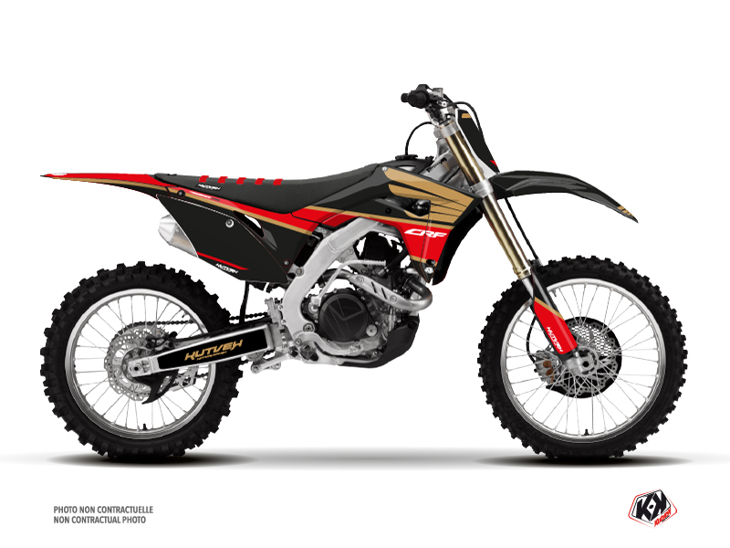 Honda 250 CRF Dirt Bike Wing Graphic Kit Gold