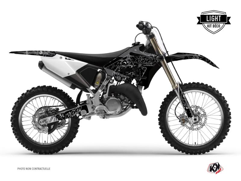 Yamaha 250 YZ Dirt Bike Zombies Dark Graphic Kit Black LIGHT