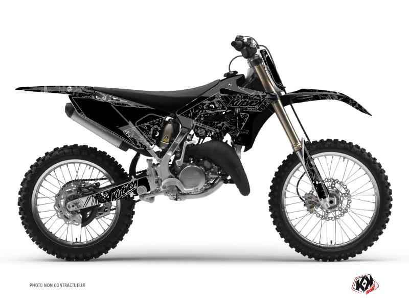 Yamaha 125 YZ Dirt Bike Zombies Dark Graphic Kit Black
