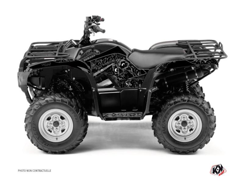 Yamaha 125 Grizzly ATV Zombies Dark Graphic Kit Black