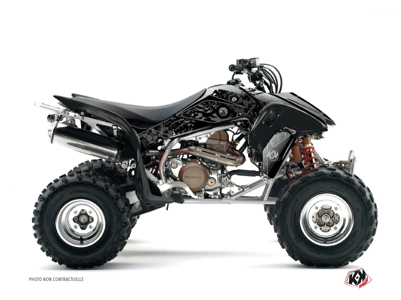 Honda 250 TRX R ATV Zombies Dark Graphic Kit Black