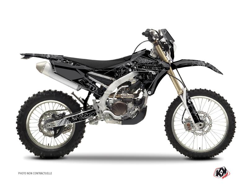 Yamaha 250 WRF Dirt Bike Zombies Dark Graphic Kit Black