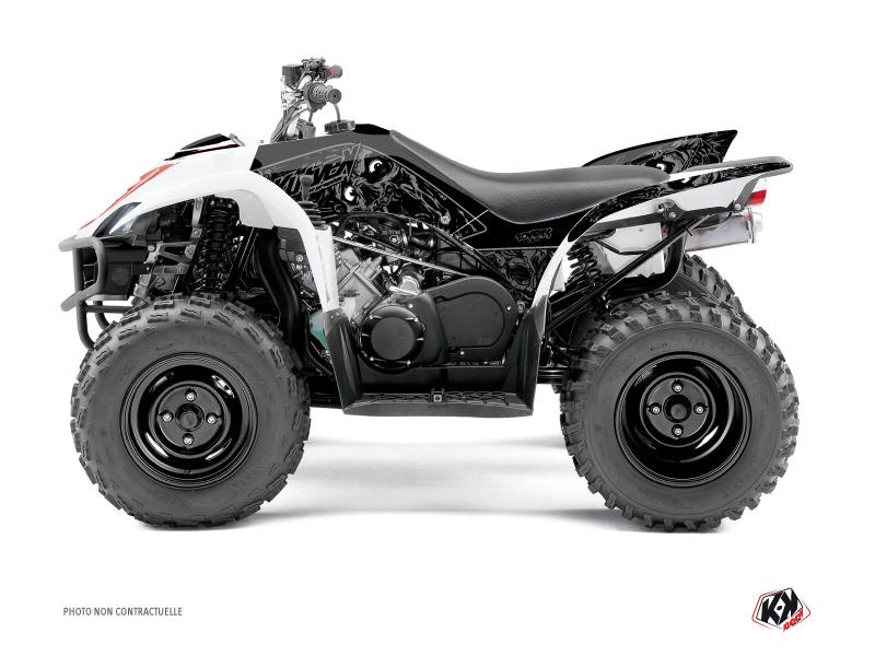 Yamaha 350-450 Wolverine ATV Zombies Dark Graphic Kit Black
