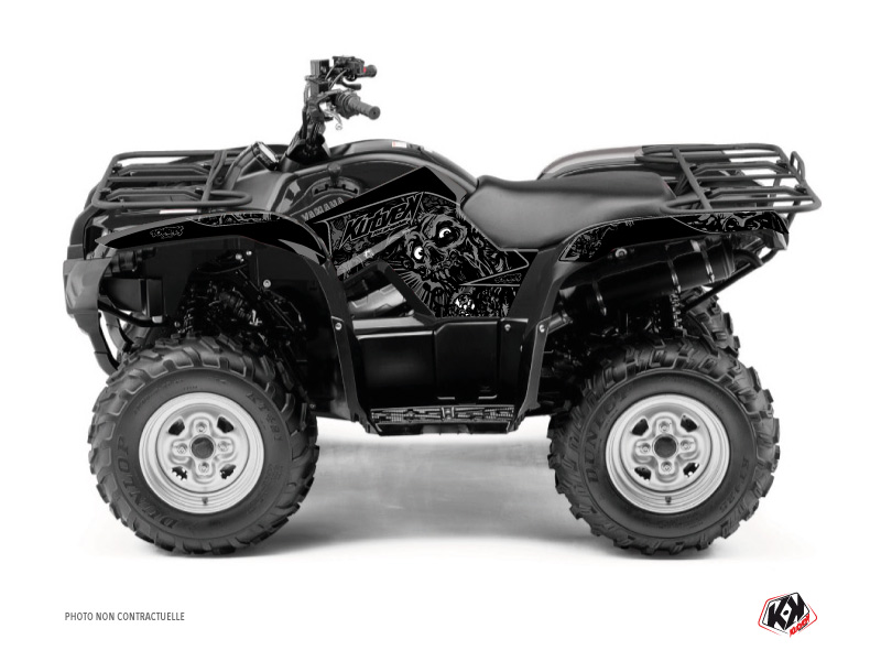 Yamaha 350 Grizzly ATV Zombies Dark Graphic Kit Black