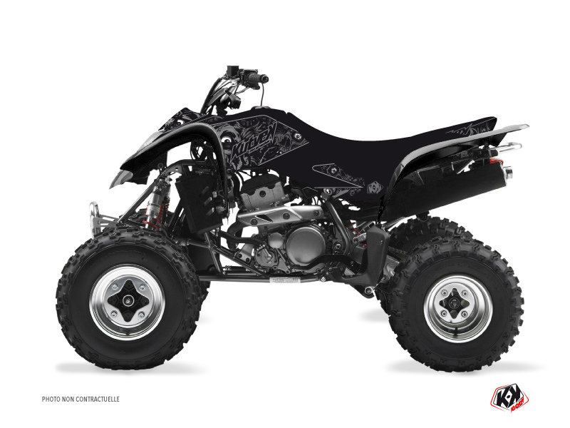 Suzuki 400 LTZ ATV Zombies Dark Graphic Kit Black