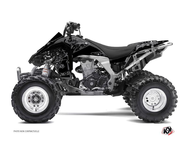 Kawasaki 450 KFX ATV Zombies Dark Graphic Kit Black