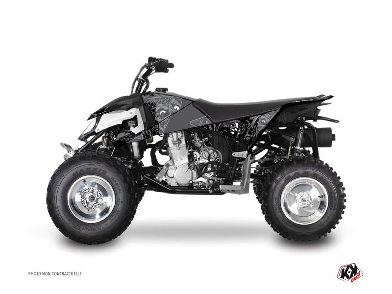 Polaris Outlaw 450 ATV Zombies Dark Graphic Kit Black