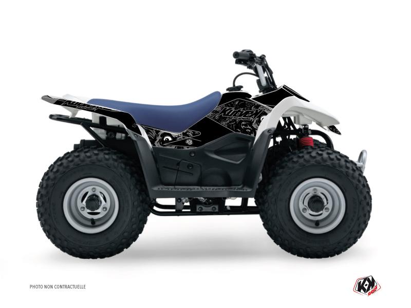 Suzuki 50 LT ATV Zombies Dark Graphic Kit Black
