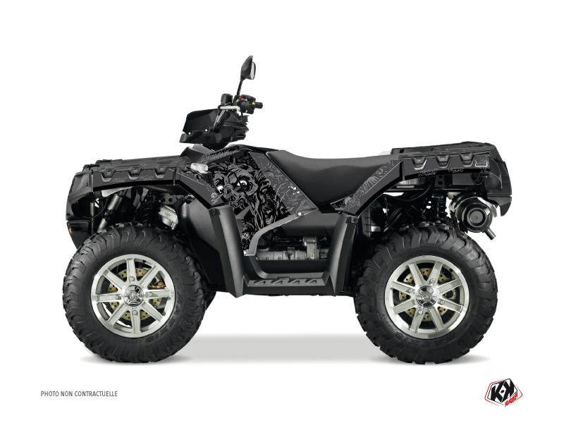 Polaris 500-800 Sportsman Forest ATV Zombies Dark Graphic Kit Black