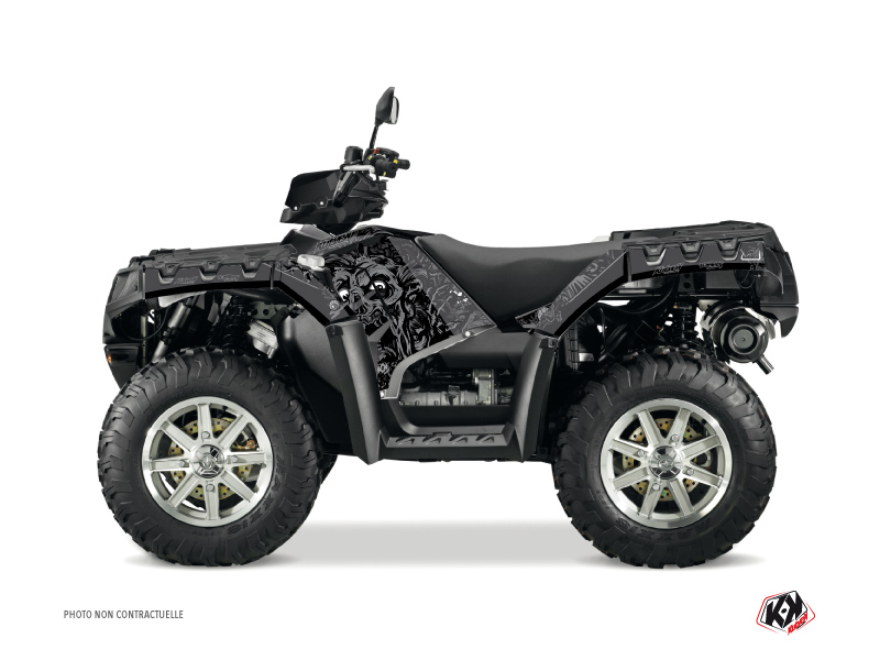 Polaris 1000 Sportsman Forest ATV Zombies Dark Graphic Kit Black