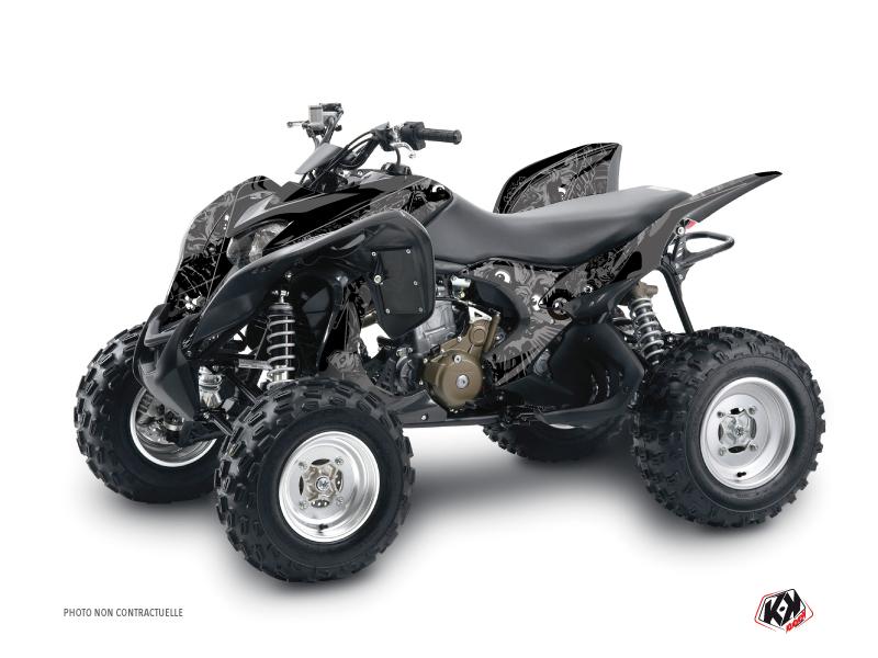 Honda 700 TRX ATV Zombies Dark Graphic Kit Black