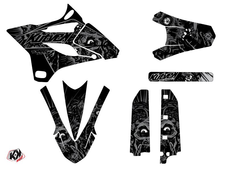 Yamaha 85 YZ Dirt Bike Zombies Dark Graphic Kit Black LIGHT